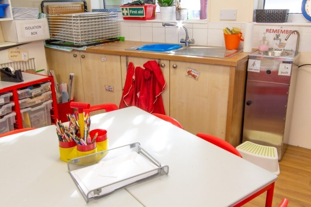 Creative Area - where children have free access to all sorts of media to help their creative and imaginative skills to develop.