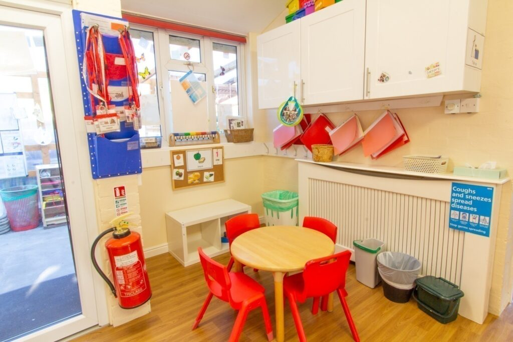 Snack Area – A place for children to gather and enjoy snack. Children help staff to prepare snack each day.
